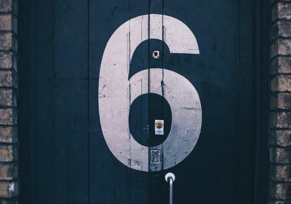 door with six number