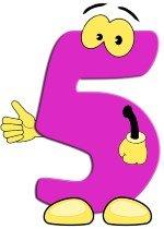 number five pink