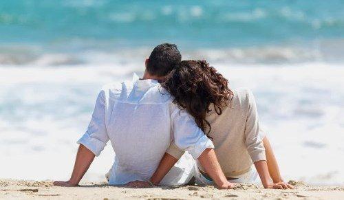 pair near the ocean Virgo Man